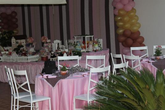 Decoração de aniversário - Urso - Decoração rosa e marron - Aniversário de criança