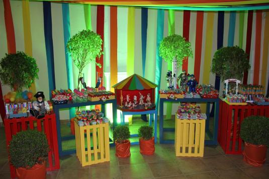 Festa do Gabriel, tema circo