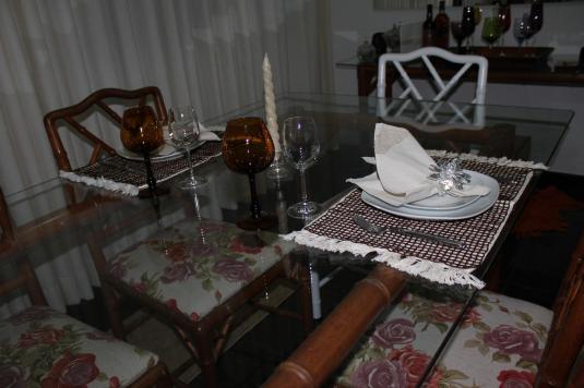 .decoração de mesa
