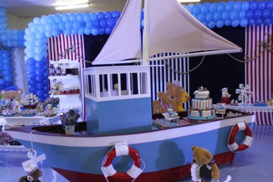 festa tema marinheiro, festa urso,bolo urso, decoração urso, doces de criança, urso de chocolate, lamparina, navio p festa, decoração azul e branco, convite festa criança