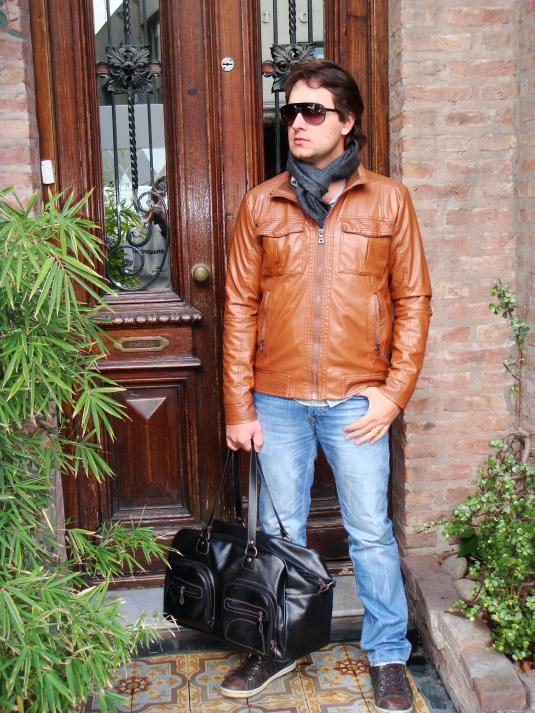 Look casaco de couro