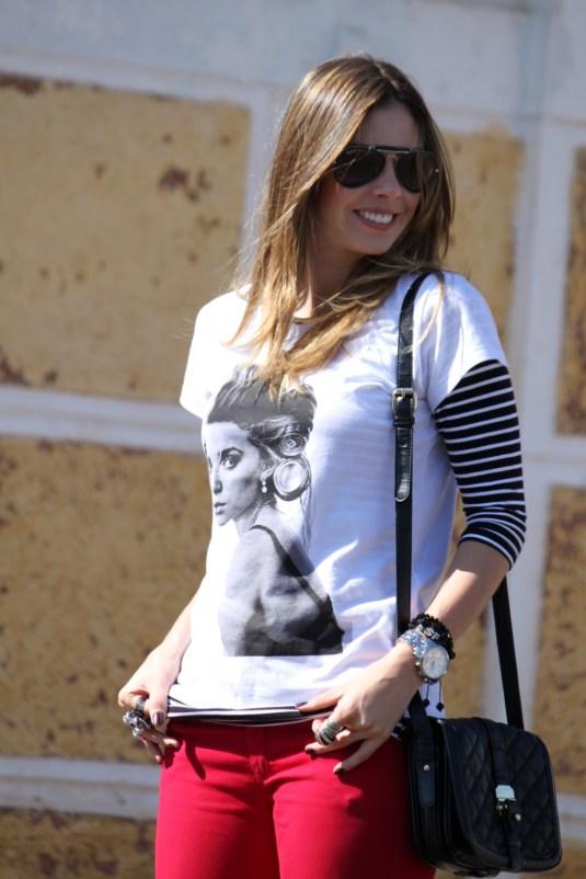 t-shirt + listras