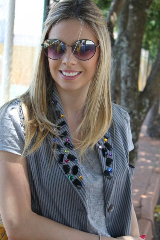 Coletão- Blog Sarah Leão- Look do dia- Look short + coletão
