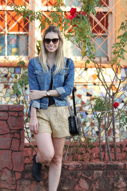Sarah Leão- Blog Sarah leão- Look do dia- Paête- Short
