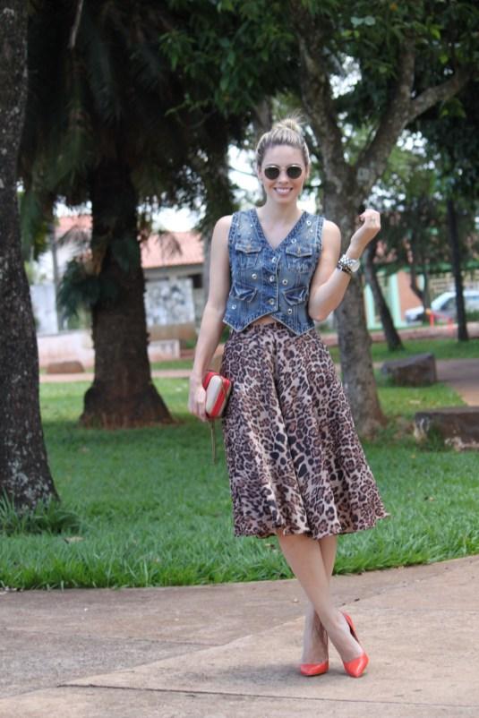 Onça- Midi- Sarah Leão- Moda- Look Fashion