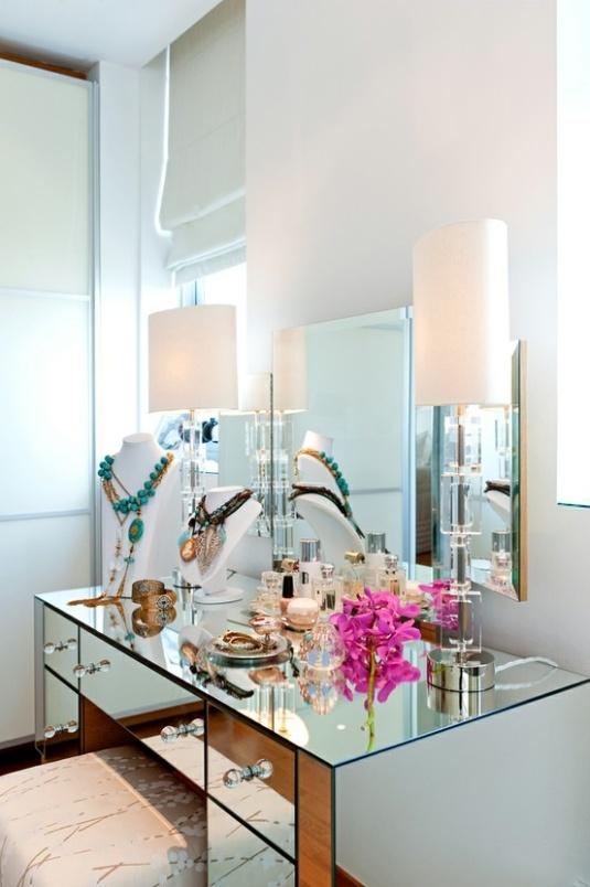 base de penteadeira de espelho